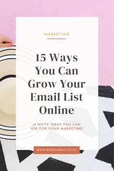 There are endless ideas for growing your email list.  It can seem overwhelming at first, but if you pick a topic or idea that you're passionate about or would love to create a freebie from then growing your list will be easy! Grab my 15 ideas and maybe find an idea for your next freebie opt in. Your Email, Email List, Say Hi, Email Marketing, About Me Blog, Stress, Teaching, Writing, Create