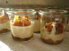 Foie gras-Panna Cotta auf Mango-Chutney