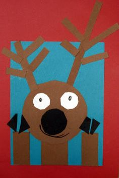 Reindeer by shape! Please glue your large black circle in the center of your page. Next glue your longest rectangles on top of your large circle! Awesome for listening, shapes, and positional words! Preschool Christmas, Noel Christmas, Christmas Crafts For Kids, Xmas Crafts, Christmas Themes, Kindergarten Art, Preschool Crafts, Christmas Art Projects, Reindeer Craft