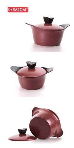 CERACOAL - Stockpot for wine ceramic coating | Reinforced coating for durability | Excellent Nonstick performance