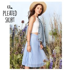 Maybe head towards Dotti's vintage collection with their Midi Pleated Skirt!