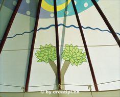Zeltbemalung auf der Innenseite des Träumer-Tipis Home Decor, Teepees, Atelier, North America, Native Americans, Outdoor Camping, Decoration Home, Room Decor, Home Interior Design