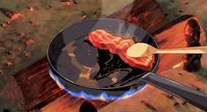 Howls moving castle, bacon and calcifer scene