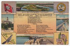 "Postcards - United States # 15 - ""My Homeland"" Tennessee"