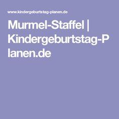 Murmel-Staffel | Kindergeburtstag-Planen.de