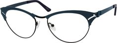 Women's Blue 6515 Stainless Steel Full-Rim Frame with Metal Alloy Temples | Zenni Optical Glasses-BwuN8Cqg