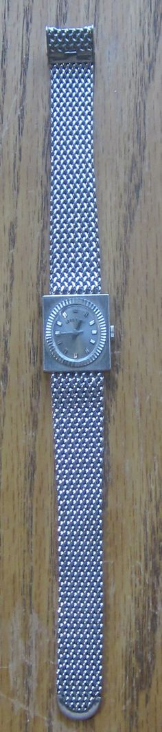 Lord Elgin 10K GF Mesh Bracelet Watch 1970's by LeftoverStuff, $59.00