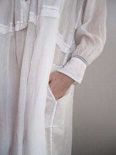 White smock | Stitch detail | Arts & Science