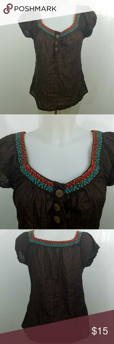 """Light Maurices Blouse Light Maurices Blouse. In great condition. Size large.  Bust 40"""" Length 25"""" Maurices Tops"""