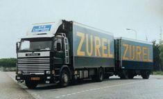 Scania R 112 6X2 met koelaanhanger van Zurel