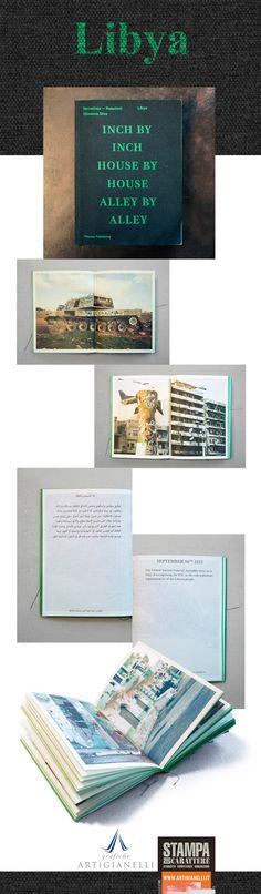 """""""Libya"""" è il racconto dell'ascesa, della leadership e della caduta di Gheddafi racchiuso in un'edizione che evoca il famoso libro verde pubblicato nel '75. Le immagini di Giovanna Silva mostrano la Libia attuale devastata della guerra civile e dai bombardamenti e sintetici testi raccontano i principali avvenimenti che hanno caratterizzato la storia del controverso leader libico. Particolare la copertina telata e la labbratura delle pagine di un acceso color verde…"""