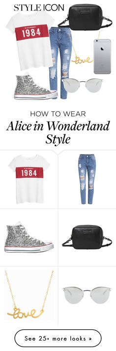 """Untitled #30"" by maisuradzemegi on Polyvore featuring MANGO, Converse, Marc by Marc Jacobs, Minnie Grace, Fendi, women's clothing, women's fashion, women, female and woman"