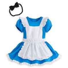 Con questo costume Baby ispirato al film Alice nel Paese delle Meraviglie si aprirà un mondo di tenerezza! Il costume ricorda il vestito di Alice con gonna e grembiule e include un cerchietto con fiocco per i capelli.