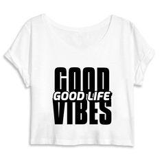 Crop Top Bio Good Vibes Good Live