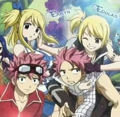 Earth and Edo Natsu and Lucy