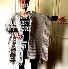 #patterns #blanket #crochet #garment #pattern #ruana #shawl #women #cape #wrap #etsy #diy #pdf #topCrochet Ruana PATTERN Crochet Cape Pattern Crochet Top | EtsyCrochet Ruana PATTERN Crochet Cape Pattern Crochet Top | Etsy  Crochet Ruana Pattern: Rockin-It Ruana Crochet pattern by KnotYourselfOut  Trendy and easy shrug designed with simplicity in mind, this fold over shrug is a must have in your project list! Designed using super bulky yarn, this shrug is fast and easy to make. Designed as... Crochet Cape Pattern, Blanket Crochet, Crochet Top, Crochet Patterns, Super Bulky Yarn, Project List, Shawl, Kimono Top, Pdf