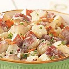 Potato & Bacon Potato Salad @keyingredient #cheese #bacon