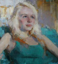 Vadim Suvorov - Tsirkulenko, Portrait of Masha_ 50x45