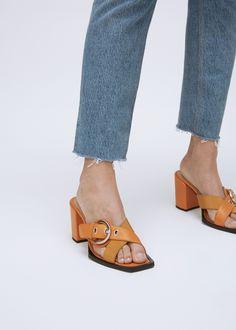 AALTO High Heel Sandal With Buckle (Orange)