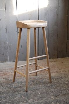 Weathered Oak Bar Stool by Eastburn Country Furniture, the perfect gift for Explore more unique gifts in our curated marketplace. Island Stools, Wooden Bar Stools, Kitchen Seating, Bar Seating, Wooden Kitchen Stools, Breakfast Bar Stools, Solid Wood Kitchens, Stool Chair, Chair Pads