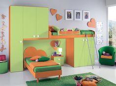 Modern Italian Kids Bunk Bedroom Design VV G068 - $3,275.00