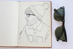 a stubbly guy Piece Of Me, Drawing S, My Works, Line Art, Markers, How To Draw Hands, Guys, Illustration, Handmade