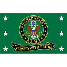 US Army Served With Pride 3X5 Flag - Meach's Military Memorabilia & More