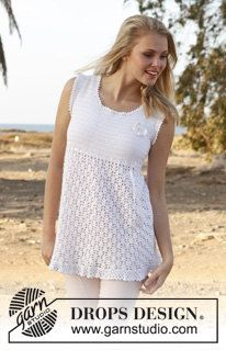 Women's Crochet Long Sleeveless Tank Sweater by Silkwithasizzle