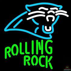 Rolling Rock Carolina Panthers Neon Sign NFL Teams Neon Light