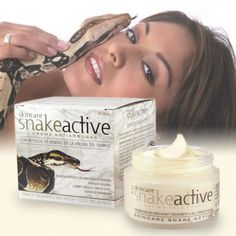 SNAKE VENOM ANTI-WRINKLE CREAM This anti-ageing cream reduces expression lines because it inhibits muscle contractions and, this way, lessens the effect of the passing of time on all skin types. This product is unisex and is specifically designed for mature skin, as a base cream or night treatment. Contains: 50 mL. £19.99