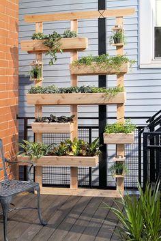 DIY Projects - Create a DIY Outdoor Living Wall Vertical Garden Planter via Dremel Weekends