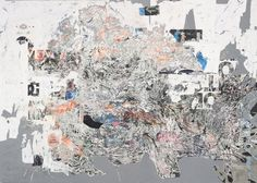 Mark Bradford Thriller, 2009. Mixed media collage on canvas 101 x 142 in. (256.5 x 360.7 cm) Collection Museum of Contemporary Art, Chicago, ...
