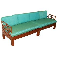 Hollywood Regency Asian James Mont Style Sofa