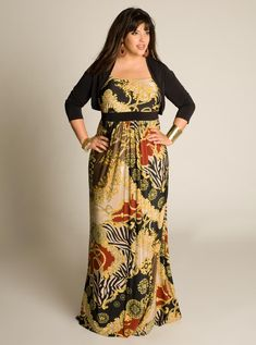 2013 fall-winter plus size fashion | plus-size-maxi-dresses-for-women-2