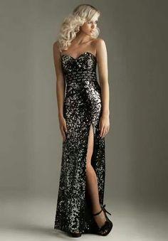 Gray sequin dress