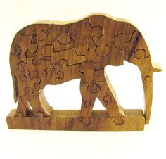 elephant wooden puzzle - this reminds me of a giraffe puzzle I played with when I was little