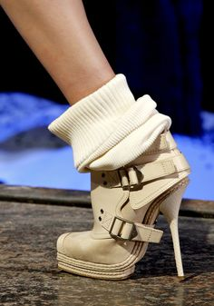 Dior Shoes. LOVE....Minus the socks, of course. I don't like the socks.
