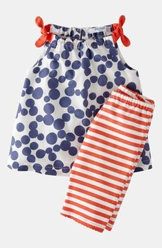 Mini Boden Print Top & Leggings (Baby) available at #Nordstrom