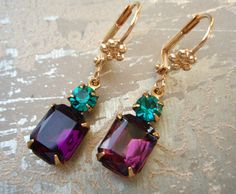 Peacock earrings.