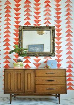 motif triangle géométrie deco tendance
