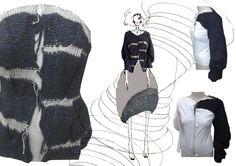 Fashion Sketchbook - knitwear design development; fashion sketch; fashion portfolio // Janhvi Panchani