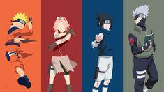 Naruto Uzimaki, Sakura Haruno, Sasuke Uchiha, Kakashi Hatake