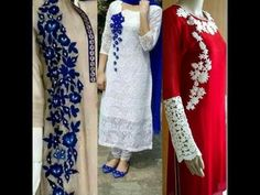 Hand embroidery kurti with Lucknow chikan embroidery - YouTube
