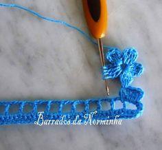 Letras e Artes da Lalá: Barrados de crochê (google)