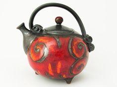 Handmade Ceramic Teapot 37oz, Ceramics and pottery, Ball Shaped Teapot, Pottery Teapot, Functional Pottery, Tea Set, Christmas Gift