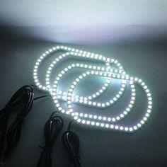 89.00$  Watch here - http://ali7m8.worldwells.pw/go.php?t=32777924603 - Angel Eyes RGB LED Light DRL Wireless Bluetooth Controller Headlights Angel Eyes For Chevrolet Silverado GMC Sierra 2007-2014 89.00$