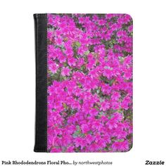 Pink Rhododendrons Floral Photo Kindle Case