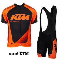 2016 KTM Cycling team jersey bike shorts set Ropa Ciclismo mens summer pro  cycling wear ride c7735018e
