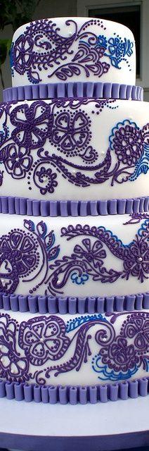 wedding cake - Paisley (design)