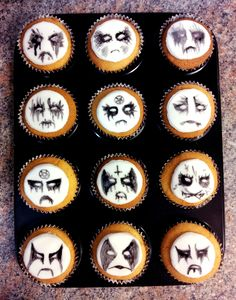 Corpse painted cupcakes